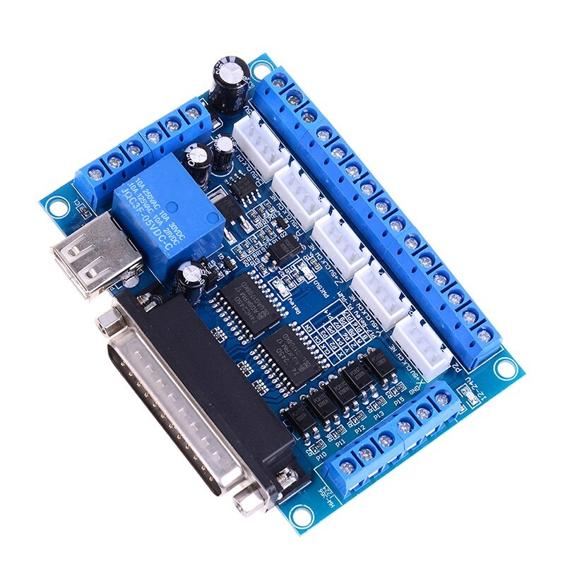Sharvielectronics: Best Online Electronic Products Bangalore | MACH3 Interface Board CNC 5 Axis With Optocoupler for Stepper Motor Driver and USB Cable Sharvielectronics 1 | Electronic store in bangalore